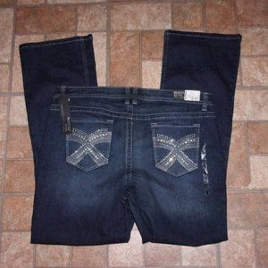 Apt 9 Mid Rise Boot Cut Jeans Size 16